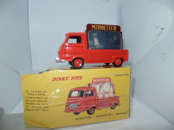 Atlas French Dinky 564 Renault Estafette Miroitier Glass / Mirror Carrier Red